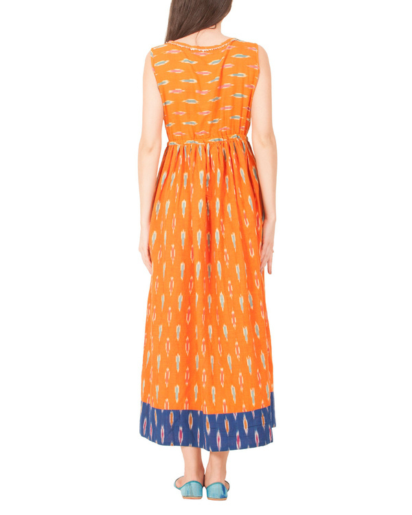 Tangerine ikat dress 2