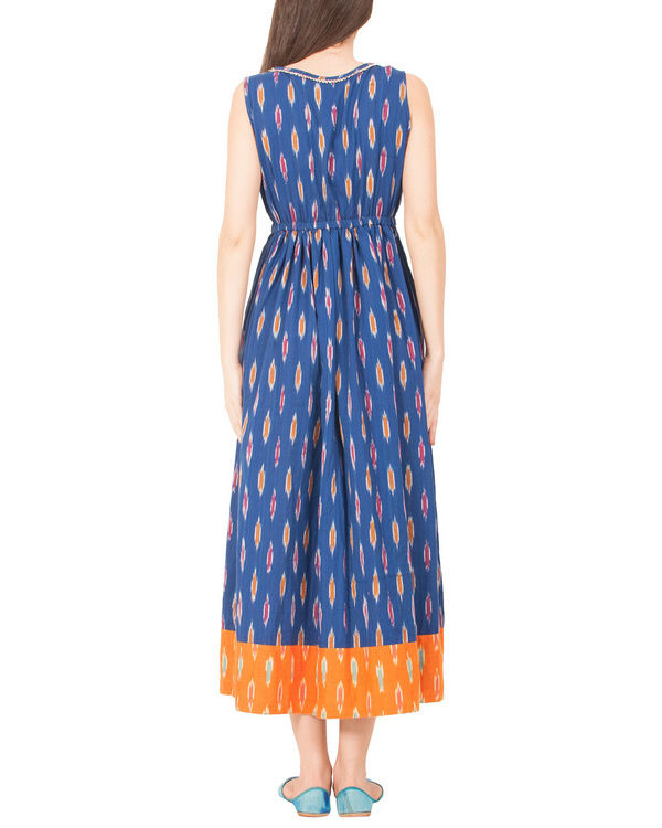 Indigo ikat dress 2