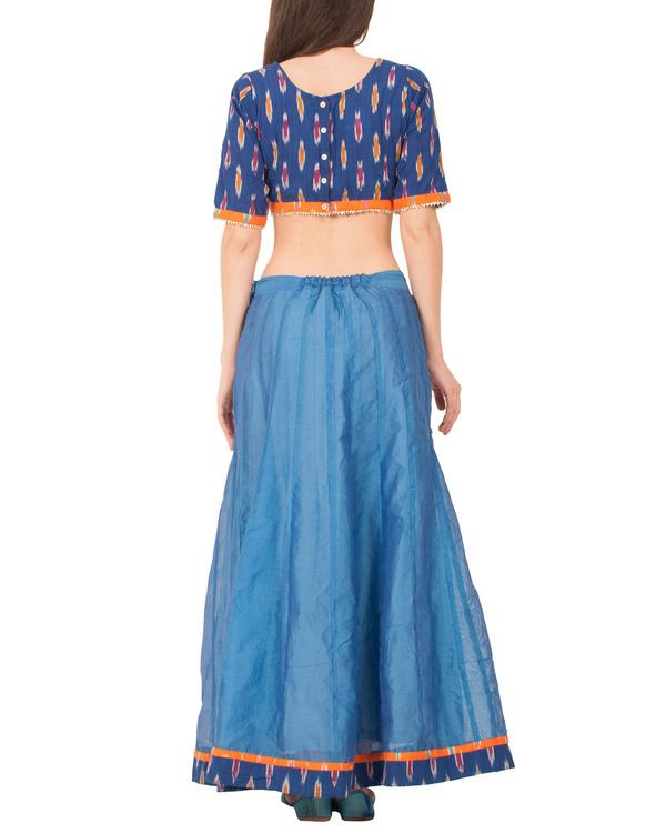 Peacock blue skirt set 1