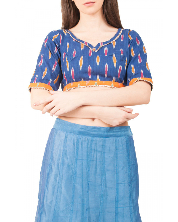 Peacock blue skirt set 2