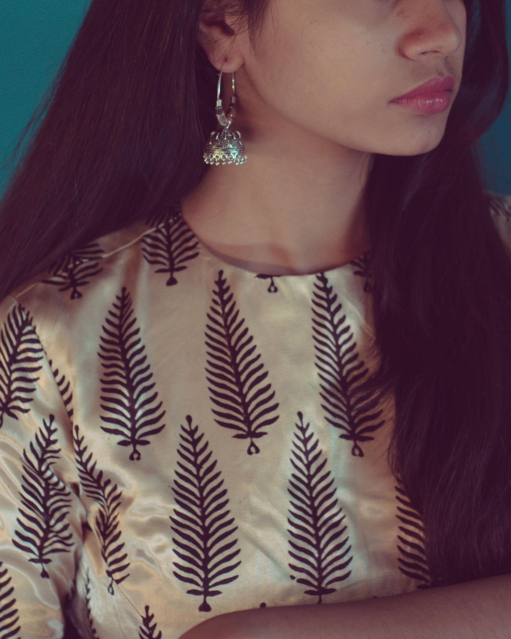 7765b4ad967f66 Tree silk blouse lehenga dupatta set by Alterego   The Secret Label