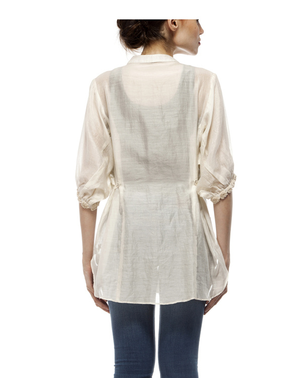 Cotton silk cut work shirt 2