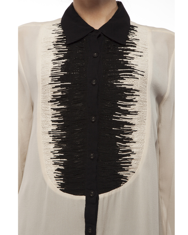 Black & white yoke shirt 1