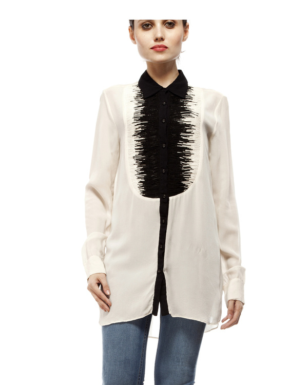 Black & white yoke shirt 5