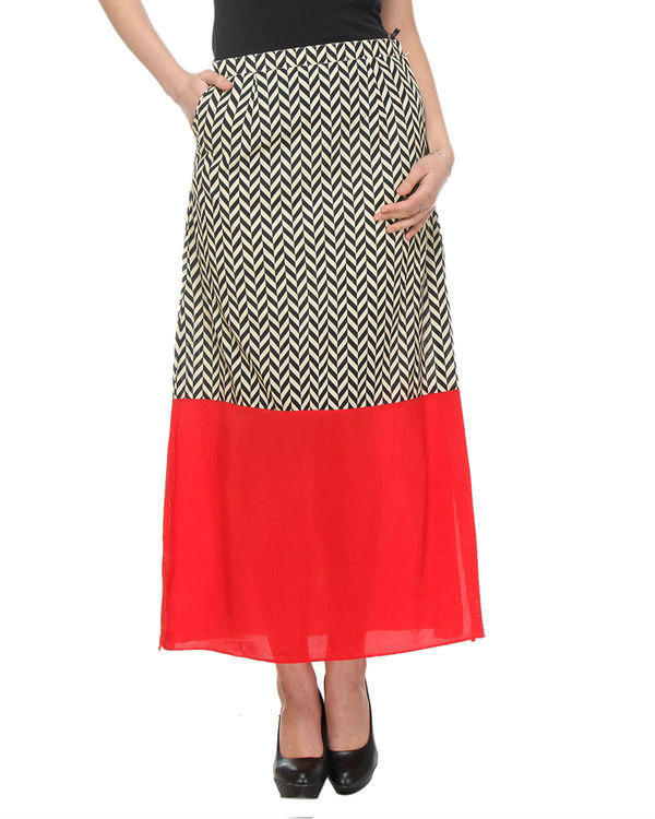 Chevron red skirt 1