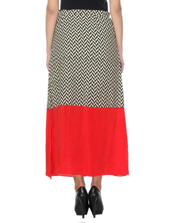 Chevron red skirt 2