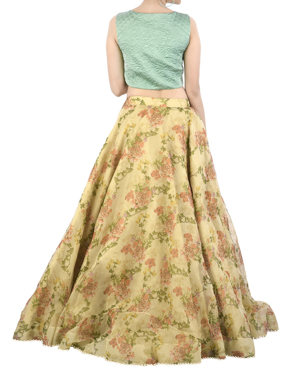 Floral organza lehenga skirt 2
