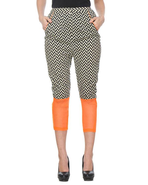 Chevron orange trouser 1