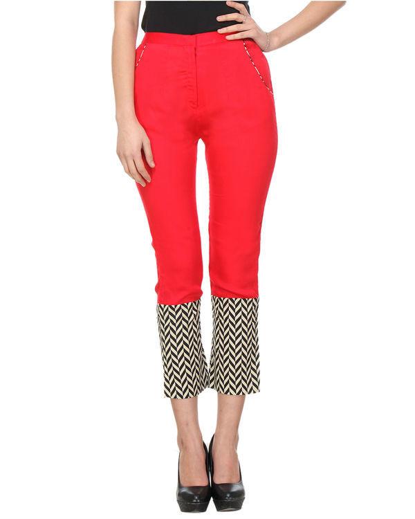 Red chevron pants 1