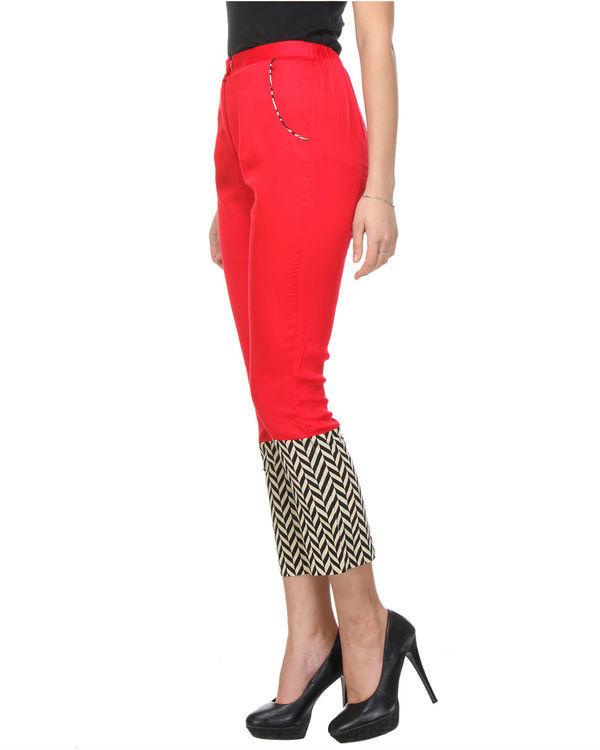 Red chevron pants 2