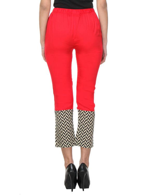 Red chevron pants 3