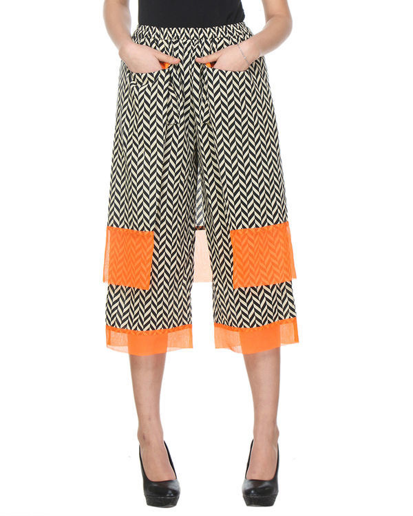 Double layered chevron pants 1