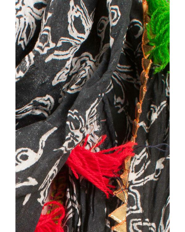 Black floral scarf 1