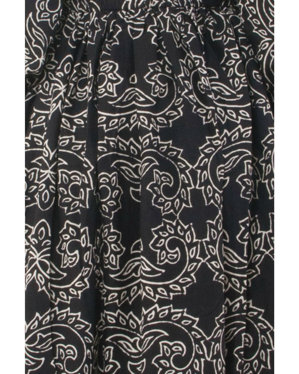 Black hand block printed dress 3