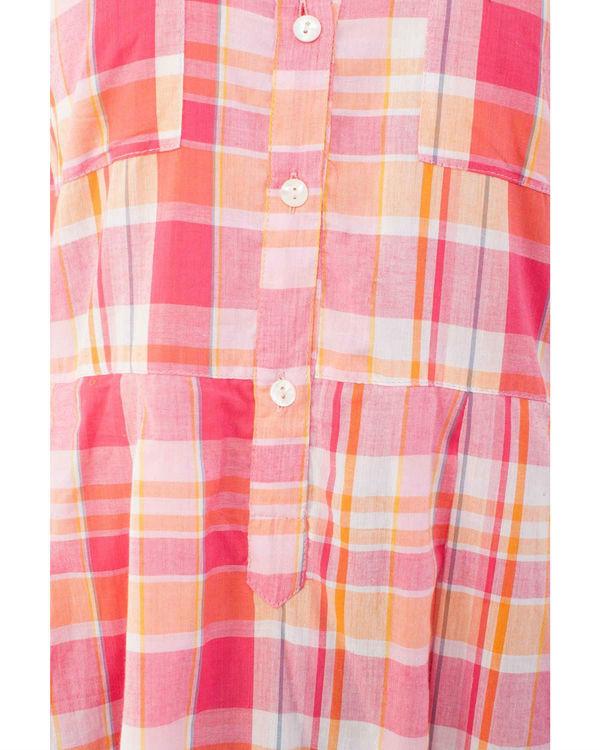 Pink checkered kurta 3