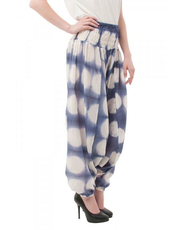 Hand dyed shibori harem pants 1