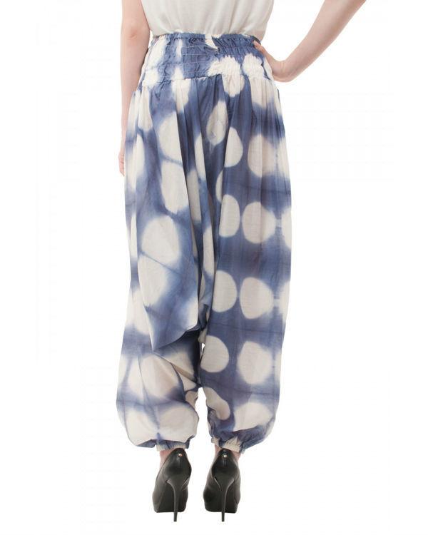 Hand dyed shibori harem pants 2