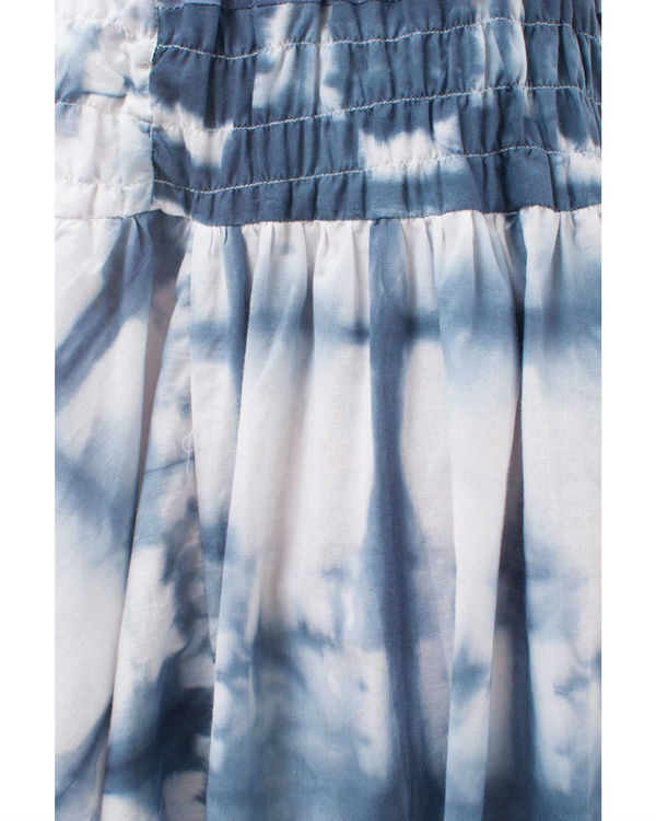 Abstract shibori harem pants 1