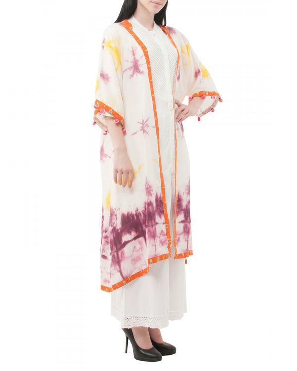 Violet shibori coverup jacket 1