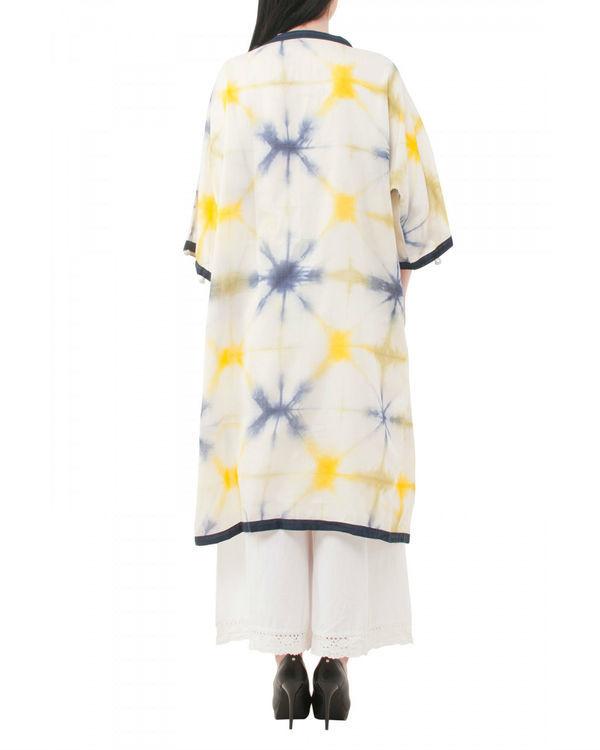 Yellow shibori coverup jacket 2