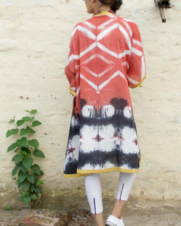 Rust shibori coverup jacket 1