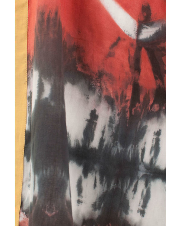 Rust shibori coverup jacket 2