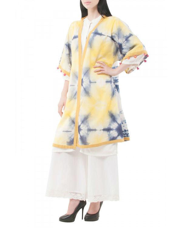 Ivory shibori coverup jacket 1