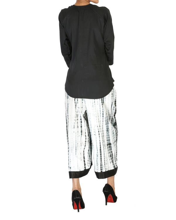 Tie & dye culotte pants 1