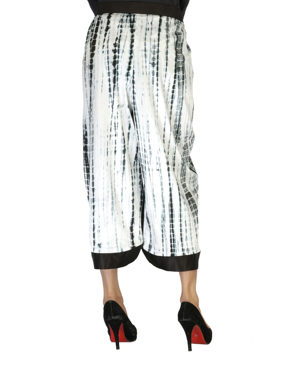 Tie & dye culotte pants 4