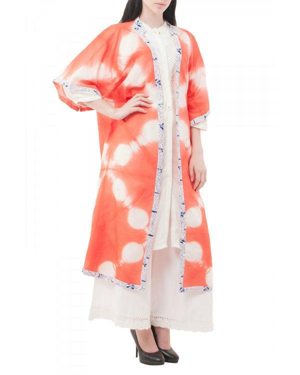Mossaic shibori coverup jacket 1