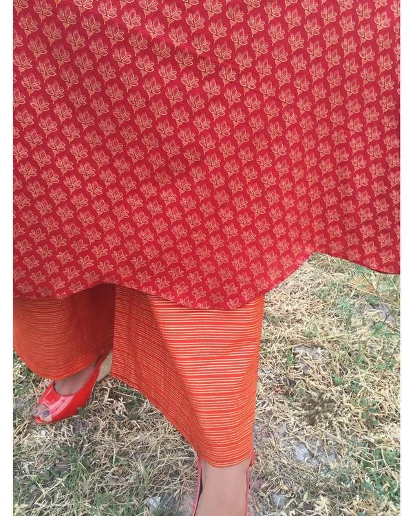 Orange red tulip set 2