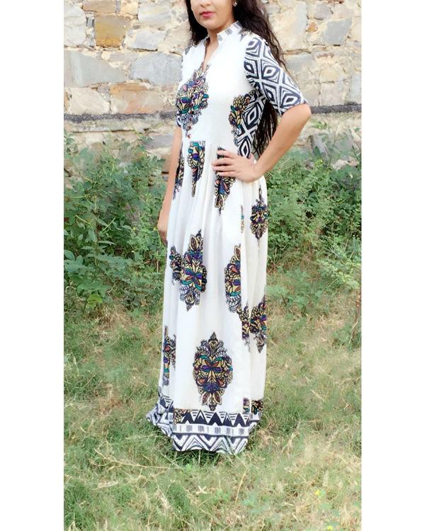 Ivory block dress 1