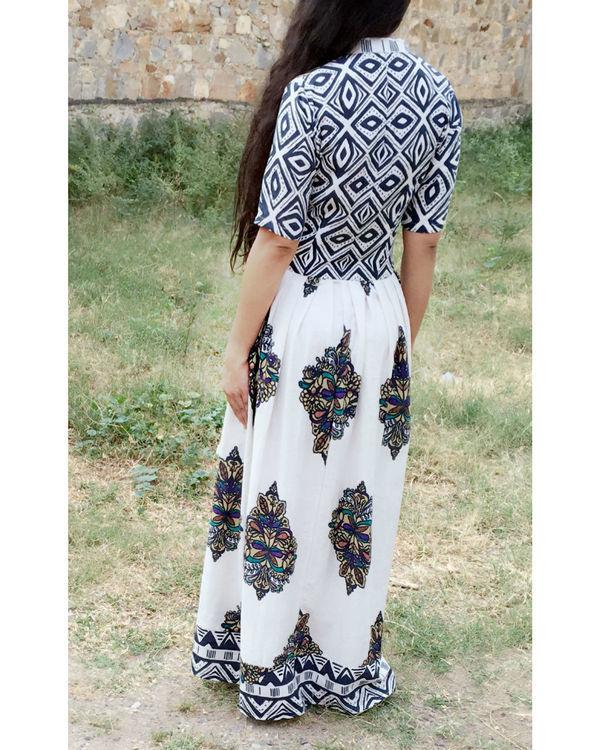 Ivory block dress 2