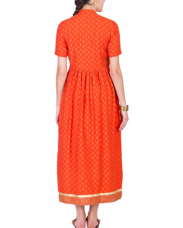 Orange yoke dress 2