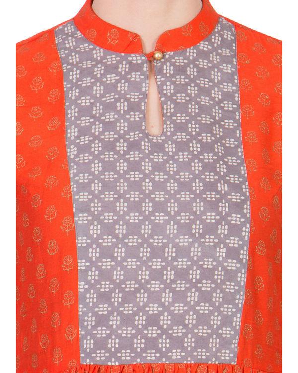 Orange yoke dress 3
