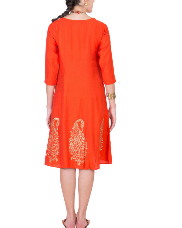 Orange angrakha dress 2