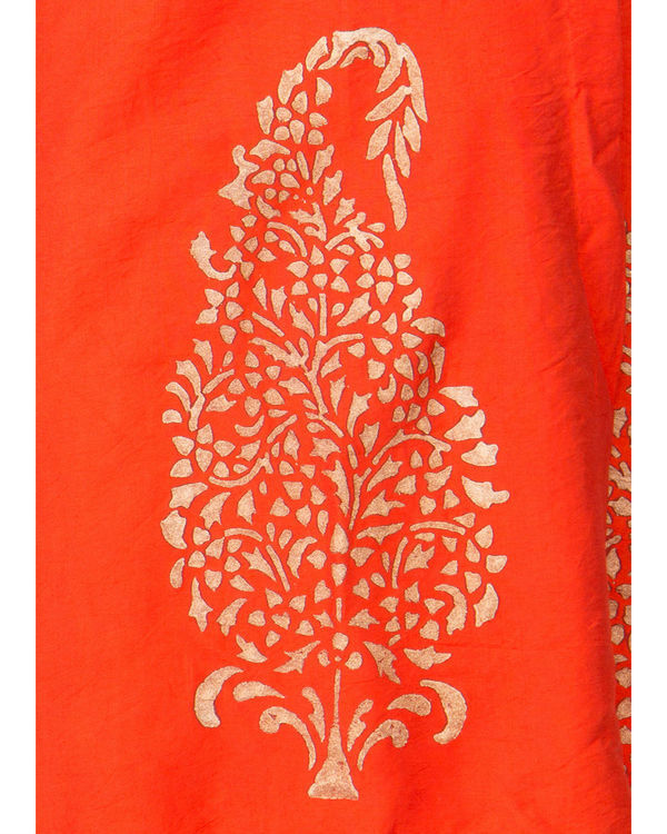 Orange angrakha dress 3