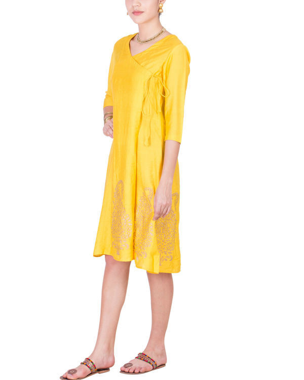 Yellow angrakha dress 1