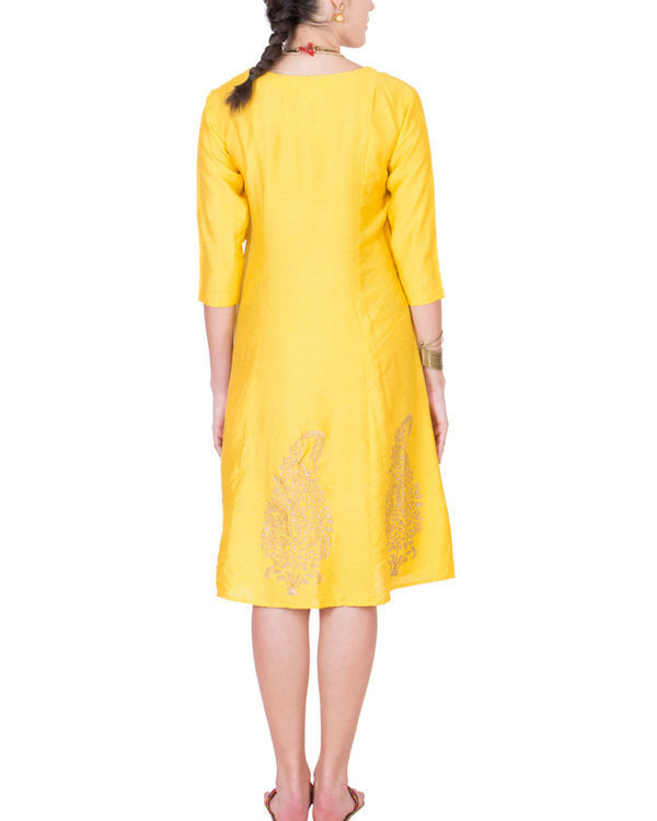 Yellow angrakha dress 2