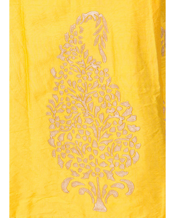 Yellow angrakha dress 3