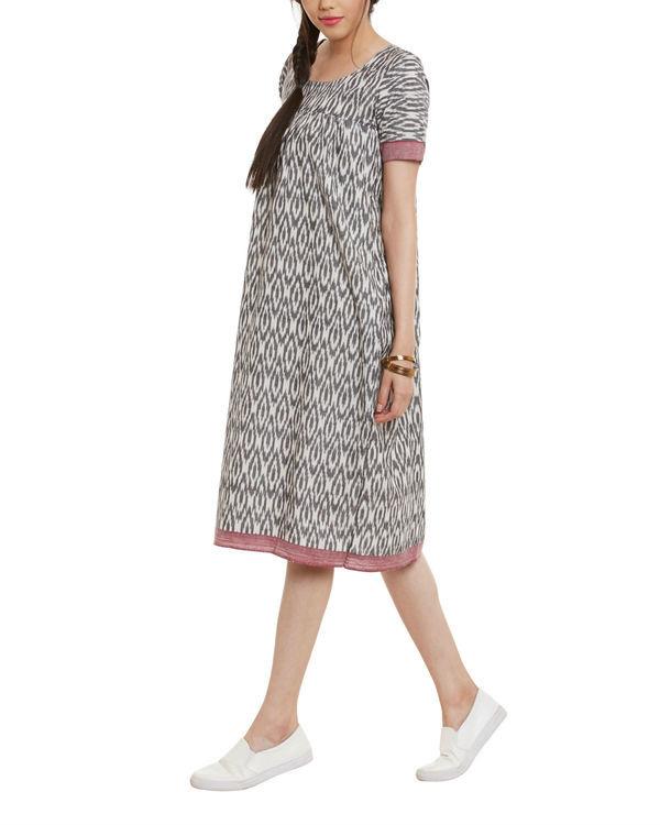 Grey ikat dress 1