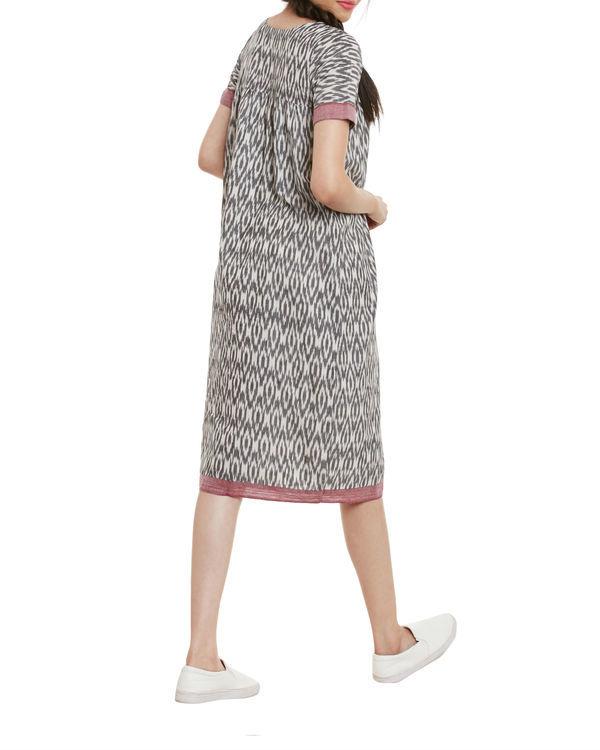 Grey ikat dress 2