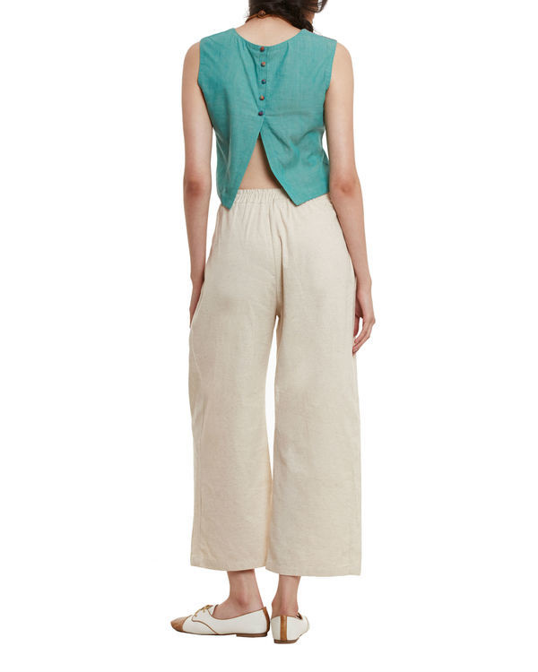 Sand  side pleated palazzos 2