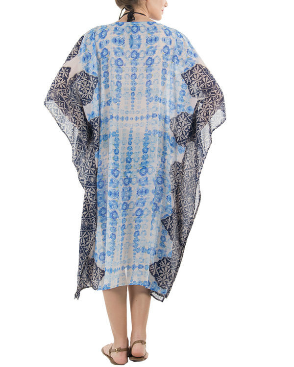 Blue rose kaftan 2