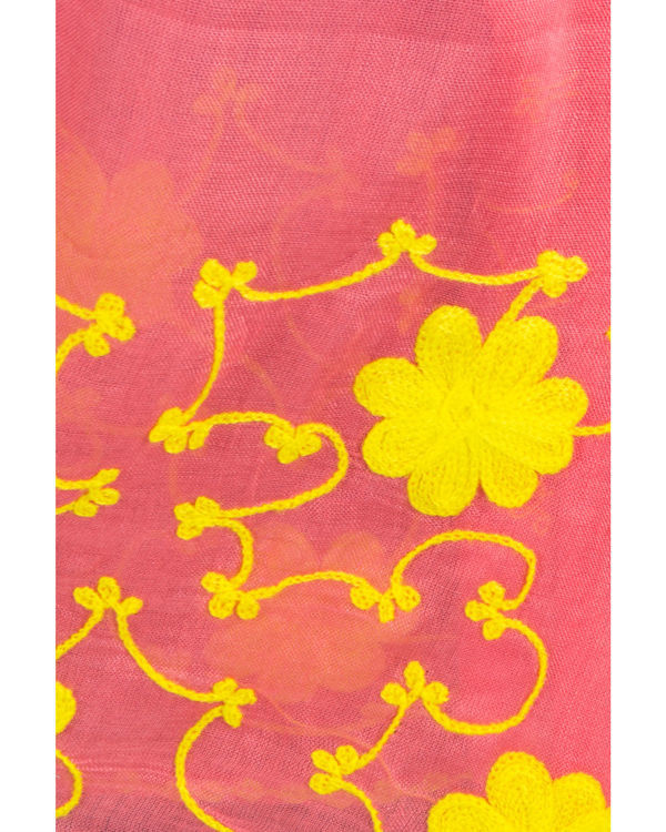 Coral embroidered stole 2