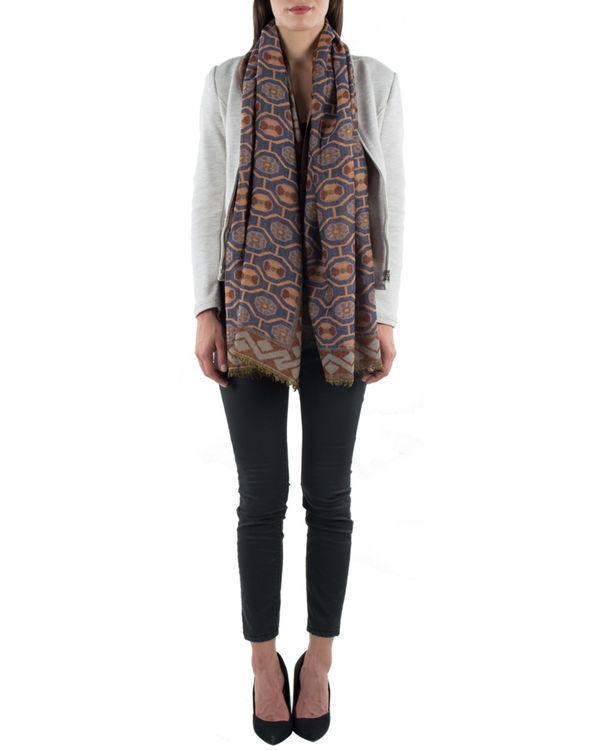 Brown jquared scarf 1