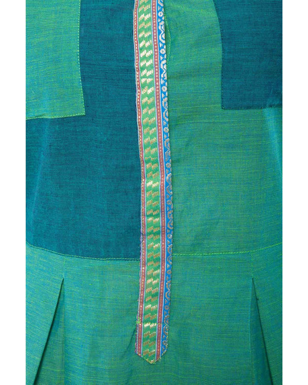 Green mangalgiri dress 3