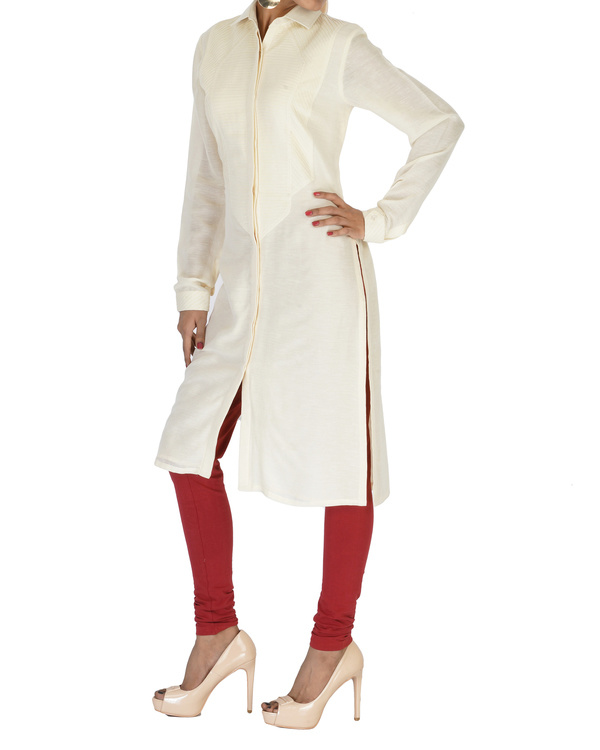 Long full sleeves cotton kurta 2