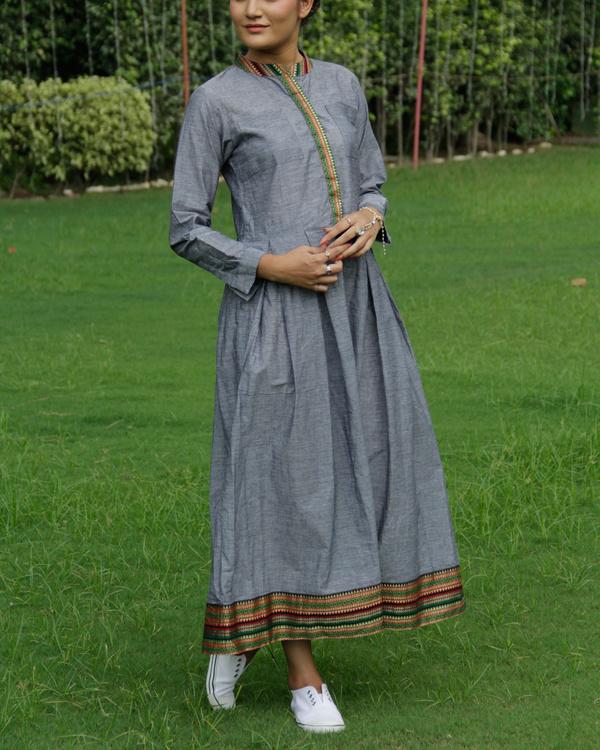 Grey mangalgiri dress 1