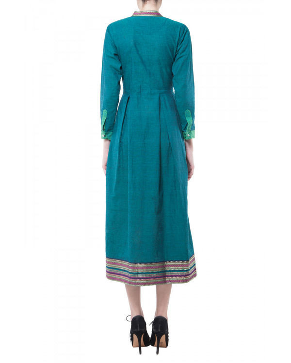 Teal mangalgiri dress 2